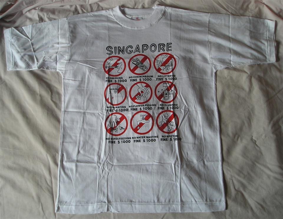 「singapore T-shirt souvenir where」の画像検索結果